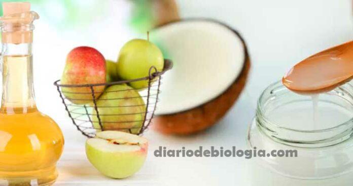 oleo de coco vinagre de maça