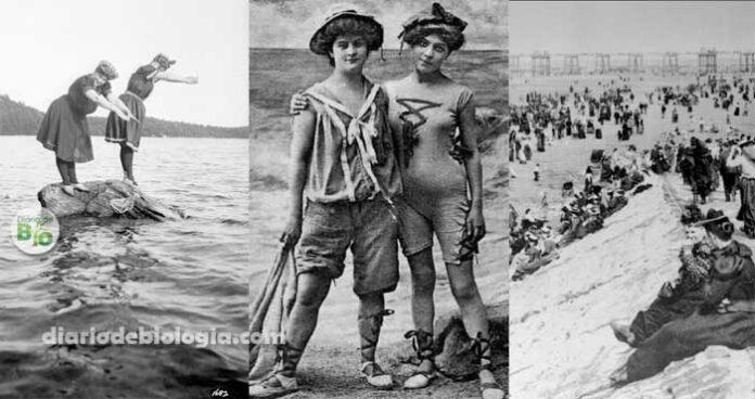 Pessoas na praia nos anos 1800 imagens antigas de pessoas na praia